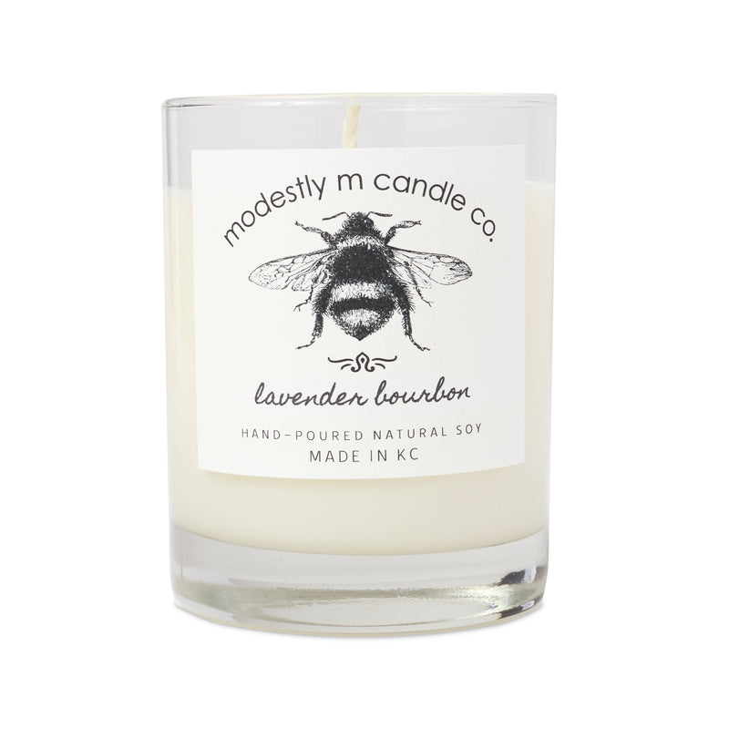 Modestly M Candle Co. Lavender Bourbon