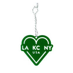 Ocean & Sea LA KC NY Ornament - Green