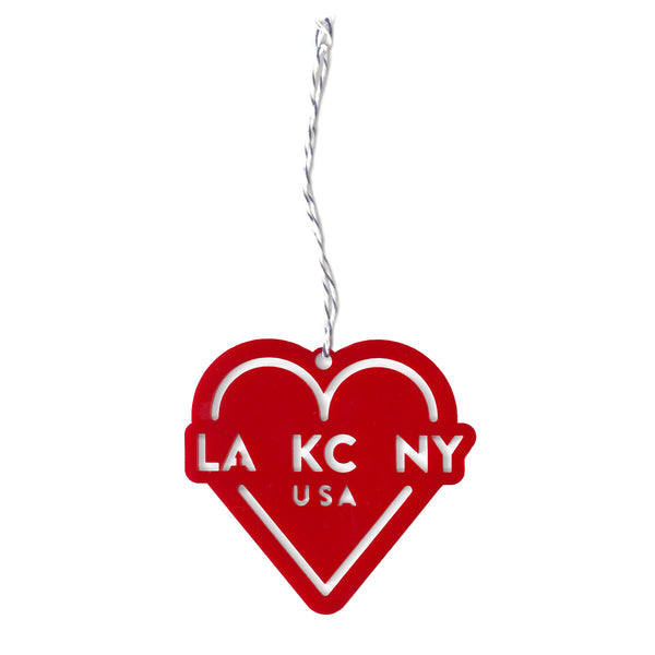 Ocean & Sea LA KC NY Ornament - Red