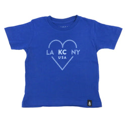 Ocean & Sea LA KC NY Kids Tee Royal Blue