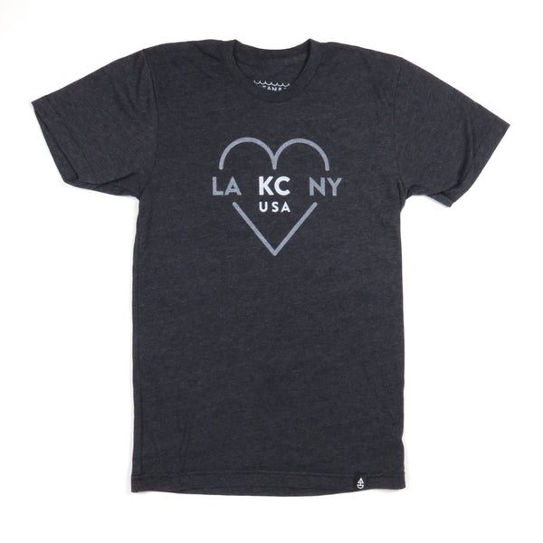 Ocean & Sea Dark Grey LA KC NY Tee