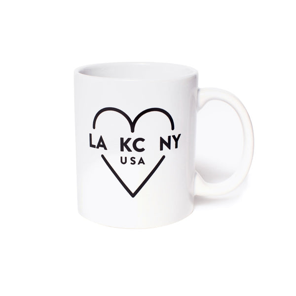 Ocean & Sea LA KC NY Coffee Mug - White