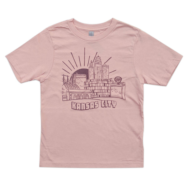 Relative Apparel & Design KC Postscard Kids Tee - Pink