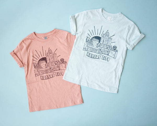 Relative Apparel & Design KC Postscard Kids Tee - Blue