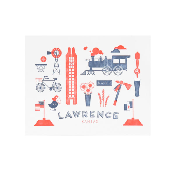 Ruff House Art Lawrence Kansas Letterpress Art Print