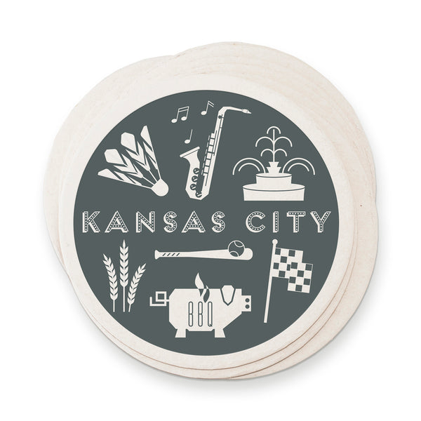 Ruff House Art Kansas City Paper Coaster Set