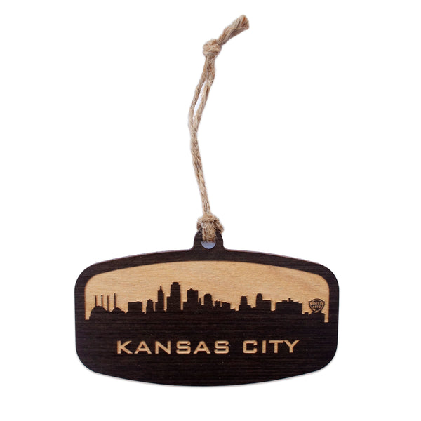 Say It On Wood KC Skyline Woodcut Ornament