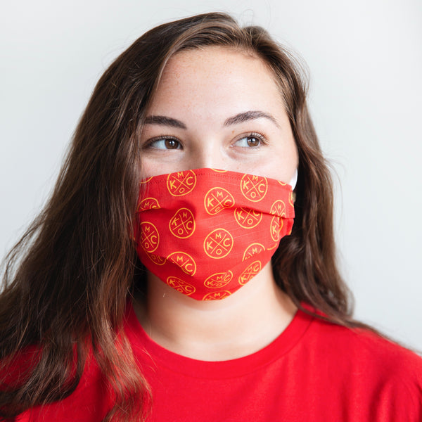 Sandlot Goods x The Bunker KCMO Face Mask - Red - 2 Pack