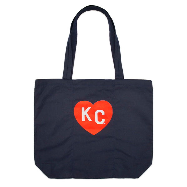 Sandlot Goods x Charlie Hustle KC Heart Ripstop Roll Tote - Navy