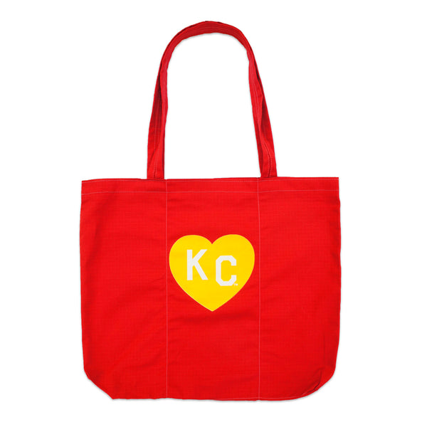 Sandlot Goods x Charlie Hustle KC Heart Ripstop Roll Tote - Red