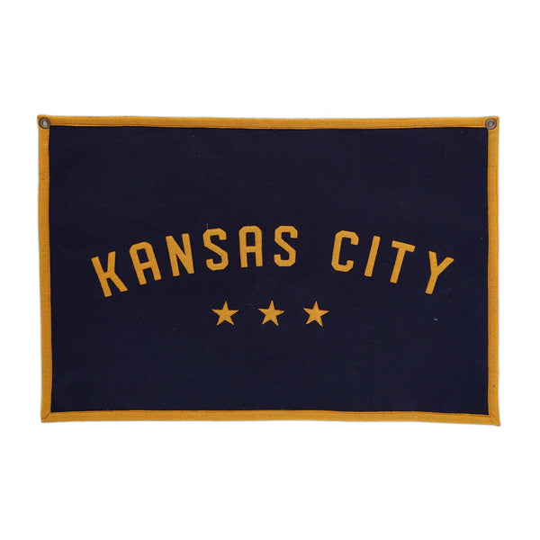 Sandlot Goods Kansas City Canvas Flag