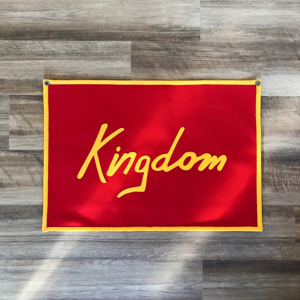 Sandlot Goods Kingdom Canvas Flag