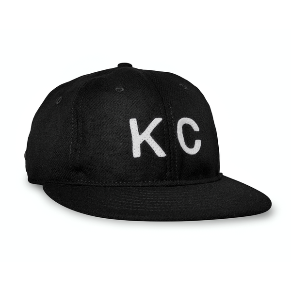Sandlot Goods Black Vintage Flatbill Hat - White KC