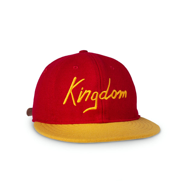Sandlot Goods Red/Gold Vintage Flatbill Hat - Kingdom