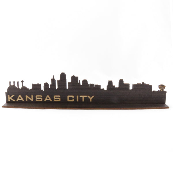 Say It On Wood Kansas City Skyline Woodcut