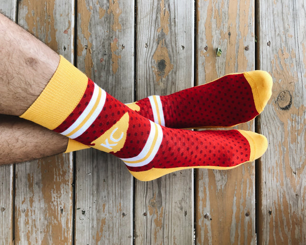 School of Sock KC Arrowhead Dot Socks