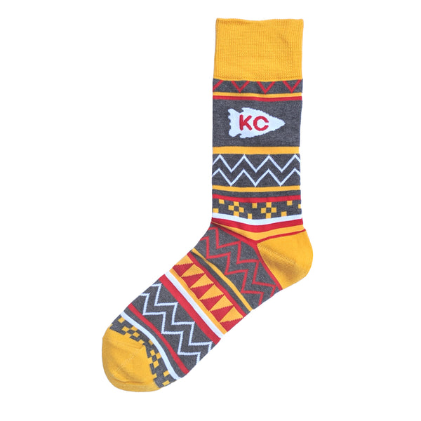 School of Sock KC Arrowhead Aztec Socks