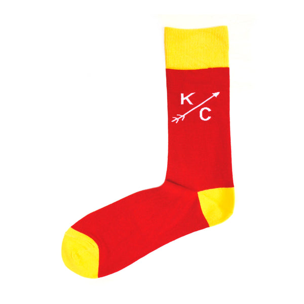 School of Sock Red and Yellow KC Arrow