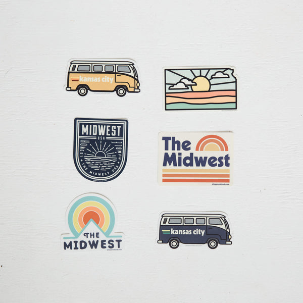 Super Cub The Midwest Circle Sticker