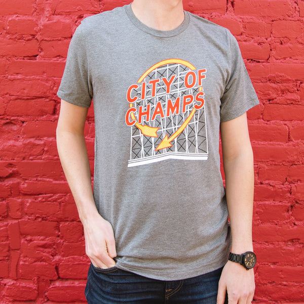 Super Cub City of Champs Auto Sign Tee
