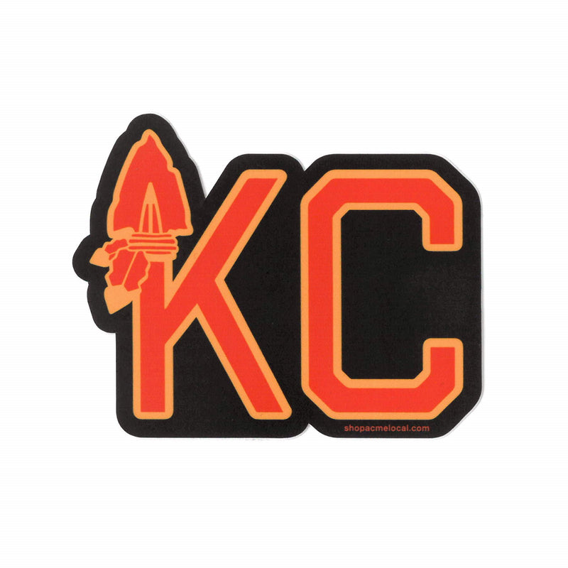 Super Cub KC Arrowhead Sticker - Black