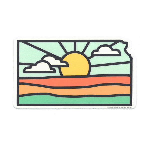 Super Cub Kansas Sunrise Sticker