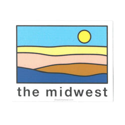 Super Cub The Midwest Landscape Sticker