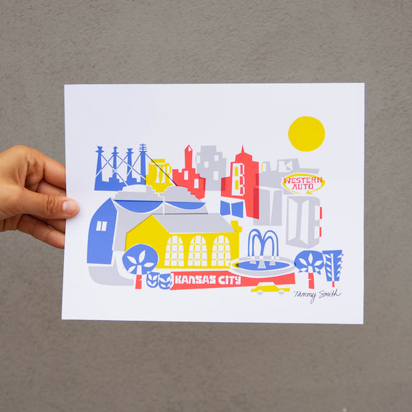 Tammy Smith Mod Skyline Print