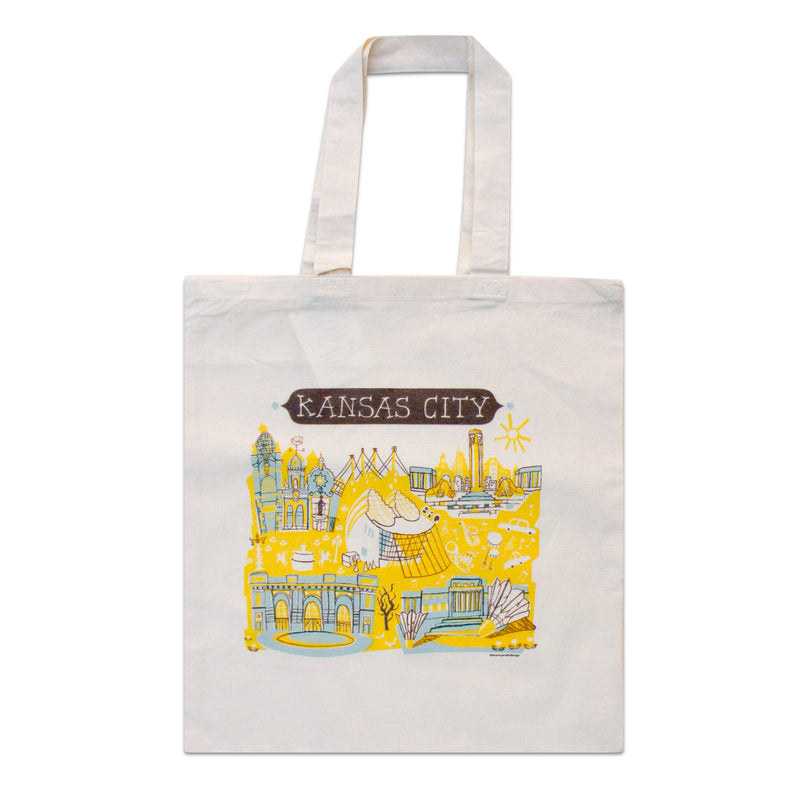 Tammy Smith Kansas City Landmarks Tote Bag - Blue & Yellow
