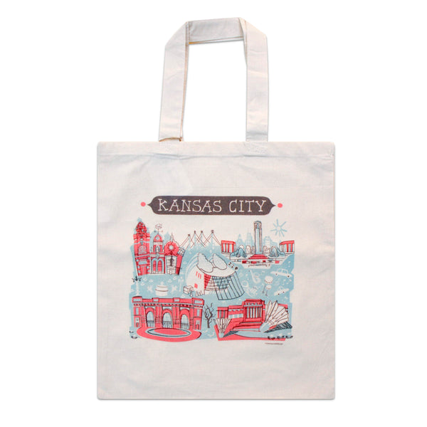 Tammy Smith Kansas City Landmarks Tote Bag - Red & Blue