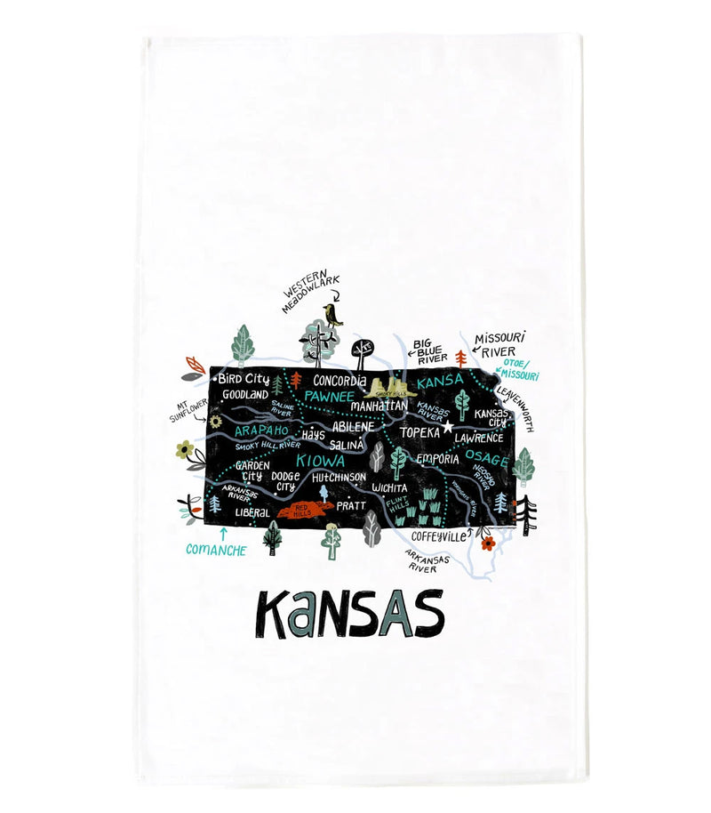 Tammy Smith State of Kansas Tea Towel