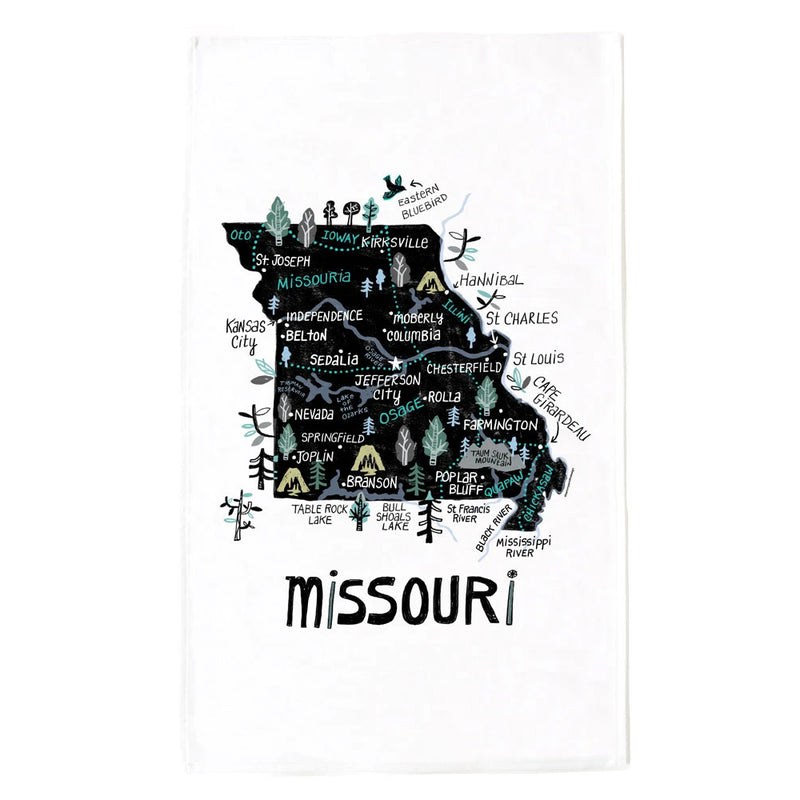 Tammy Smith State of Missouri Tea Towel