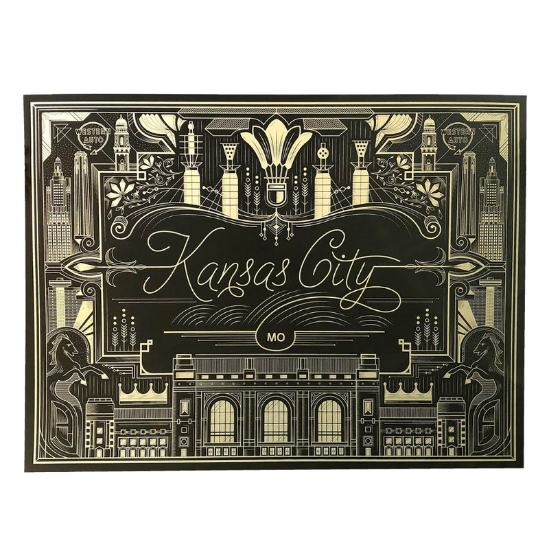 Trey Conrad Kansas City Black & Gold Print