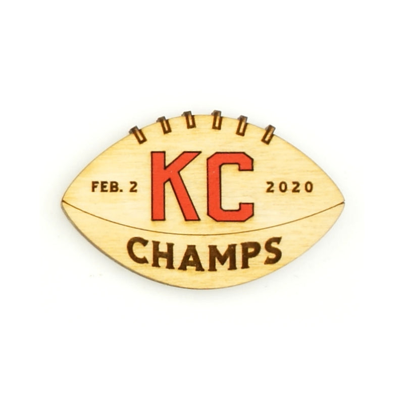 Wee Woodworks KC Champs Magnet - Natural