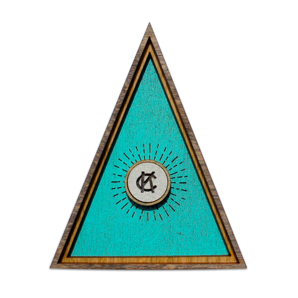 Wee Woodworks KC Triangle Desk Ornament - Blue
