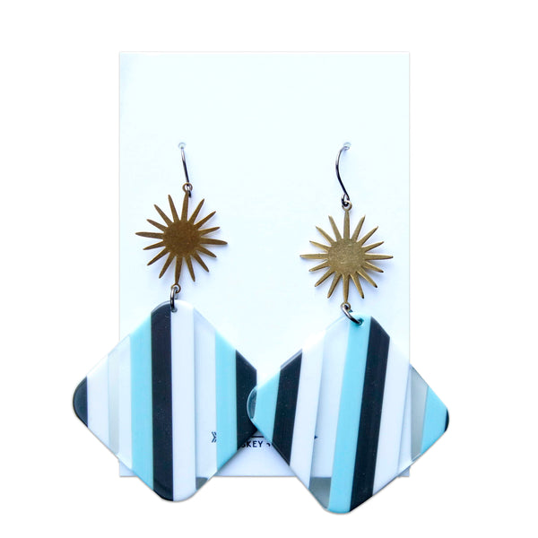 Whiskey + Bone Janis Joplin Earrings: Blue
