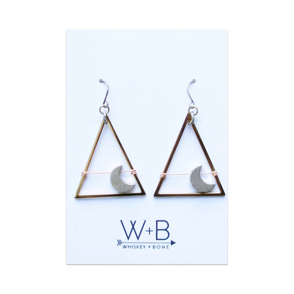 Whiskey + Bone Moondance Earrings: Gold