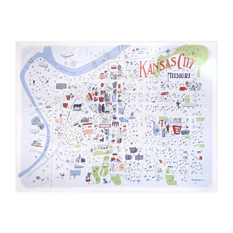 Zoe Larson Downtown Kansas City Print