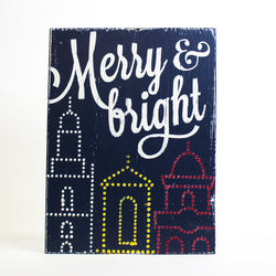Farmdog Studios Merry and Bright Sign