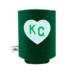 wlle x Charlie Hustle KC Heart Drink Sweater - Green & White