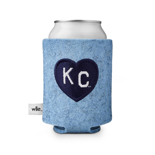 wlle x Charlie Hustle KC Heart Drink Sweater - Light Blue