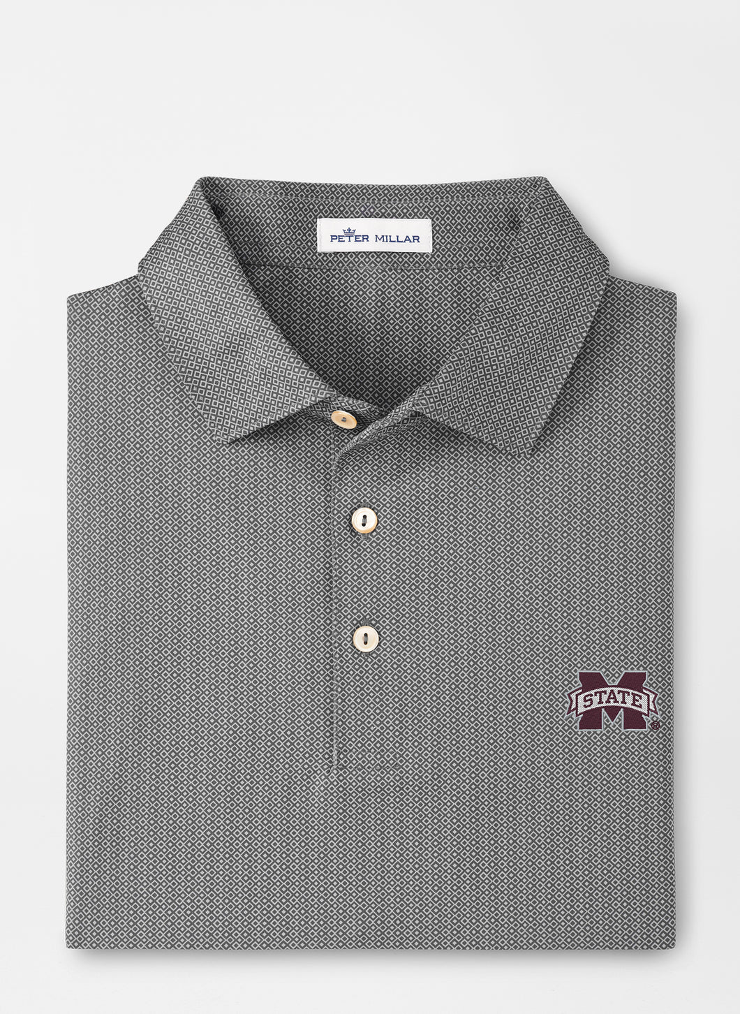 Peter Millar MSU Mississippi State Jamm Printed Performance Polo: Iron