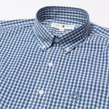 Load image into Gallery viewer, Duck Head Walton Performance Gingham Shirt: Dark Blue