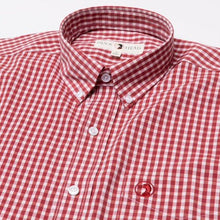 Load image into Gallery viewer, Duck Head Walton Performance Gingham Shirt: Rio Red