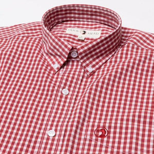 Duck Head Walton Performance Gingham Shirt: Rio Red
