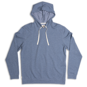 Duck Head Mitchell Hooded Pullover: Slate Blue Heather