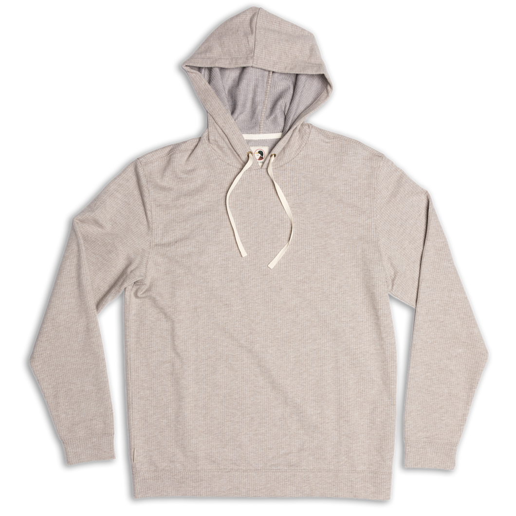 Duck Head Mitchell Hooded Pullover: Slate Taupe Heather