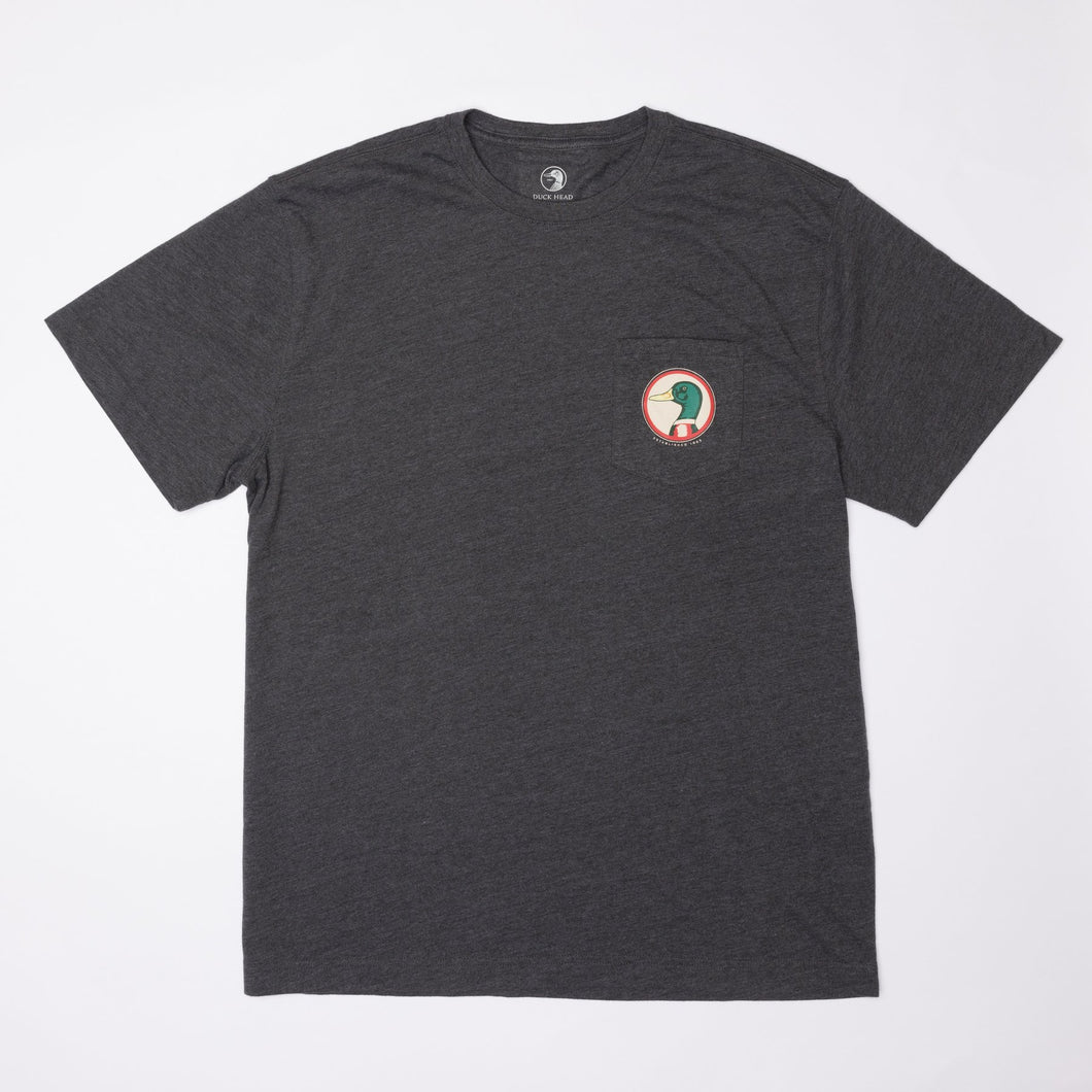 Duck Head True to Our Roots Tee: Heather Charcoal