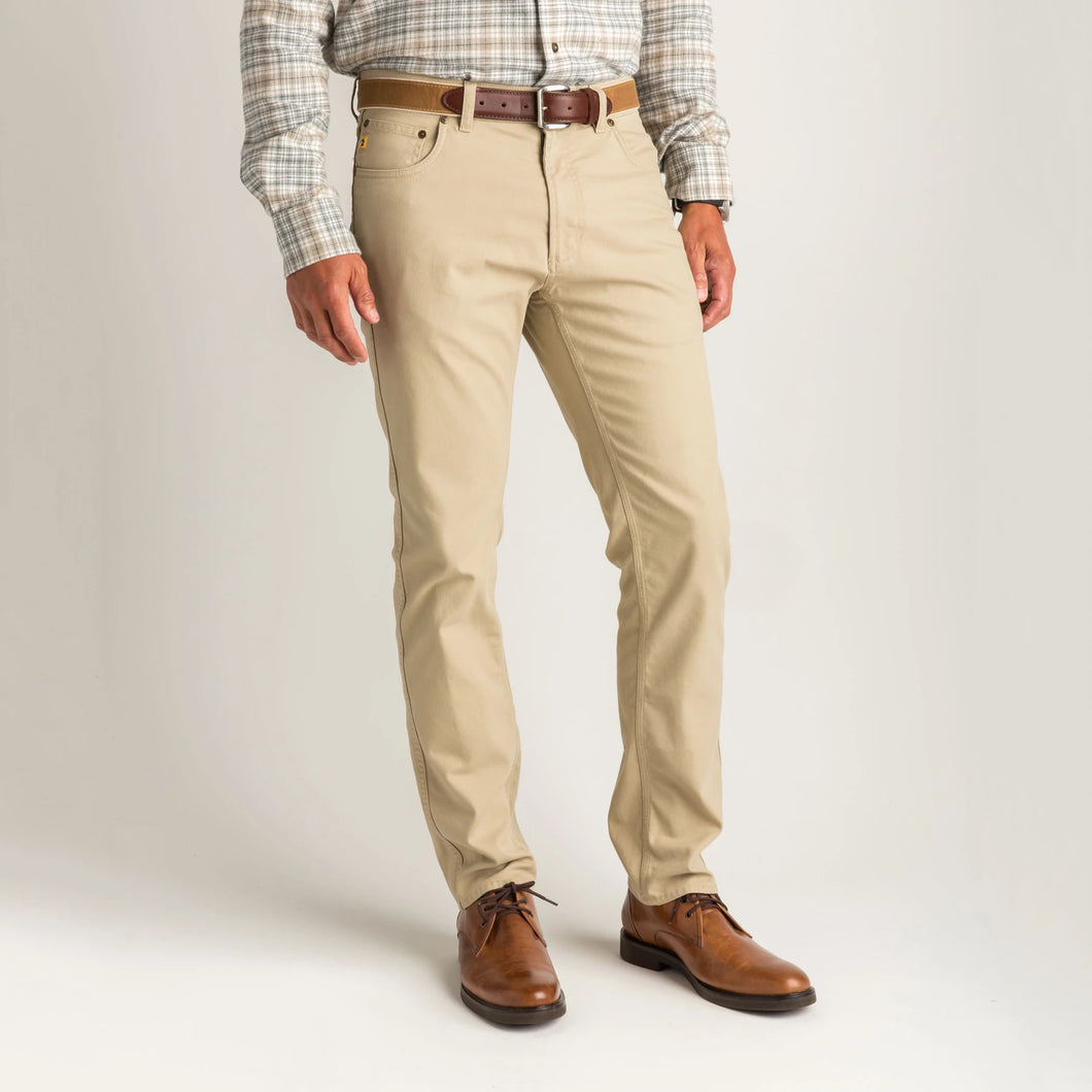 Duck Head 1865 Five-Pocket Field Canvas Pant: Lymestone