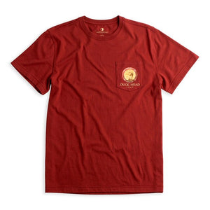 Duck Head Gold Mallard T-Shirt: Rosewood Red